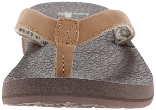 Sanuk Yoga Mat Primo 29418201 - Chanclas de caucho para mujer Bronceado