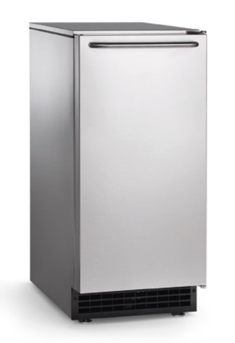Scotsman CU50GA Undercounter Ice Maker, Gourmet Cube, Air Cooled, Gravity Drain with Cord, 115V/60/1-ph, 14.4 Amp (15 Amp Circuit Required), 14.9'' Width x 22'' Diameter x 34.4'' Height by Scotsman