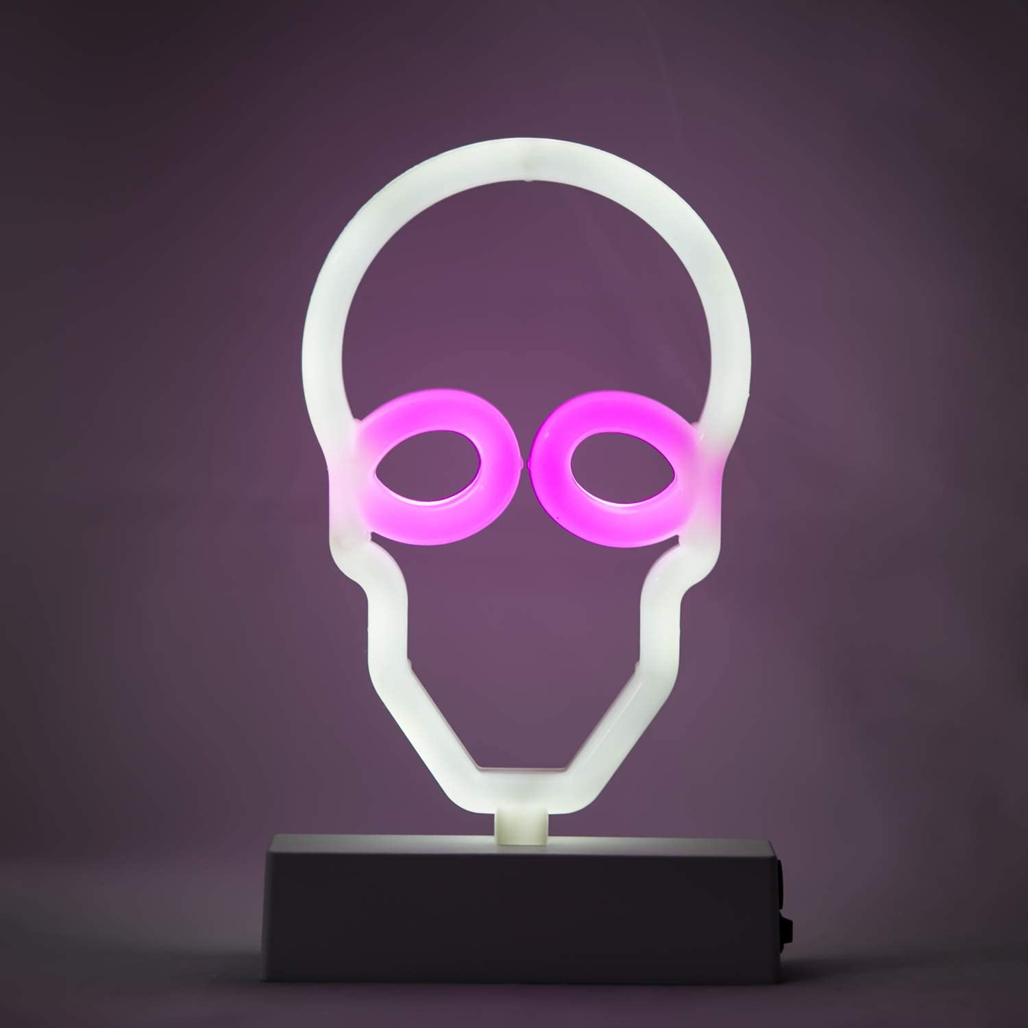 YR Halloween Decorations LED Neon Sign Light. Indoor Night Table Lamp with Battery or USB Powered for Party, Living Room, Family Room, Kids Room, Home Décor, Skull