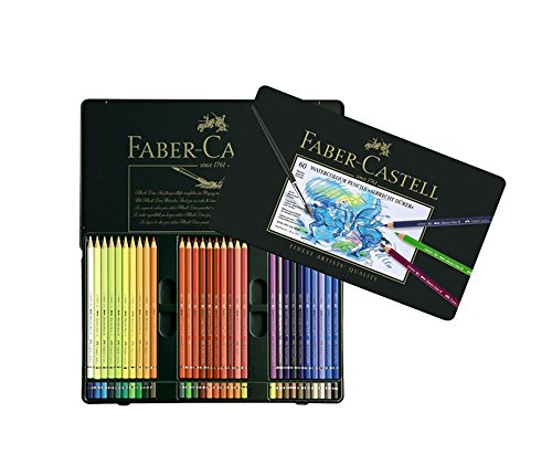 Faber Castell Albrecht Dürer Watercolor Color Colored Artists Pencils Metal Tin Set of 60 by A.W. FABER-CASTELL