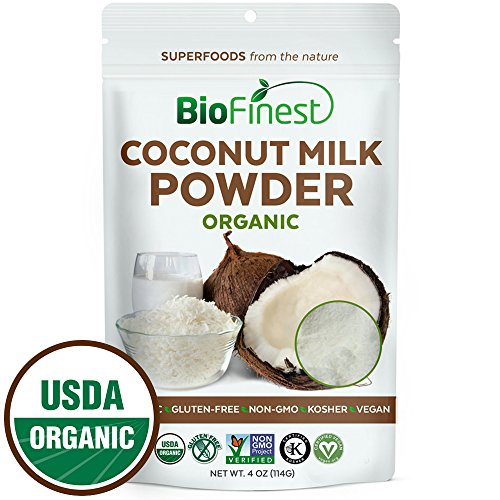 Milk Yogurt Coconut (Biofinest Coconut Milk Powder -100% Pure Antioxidants Superfood - USDA Certified Organic Kosher Vegan Raw Non-GMO - Boost Digestion Detox Weight Loss - for Smoothie Beverage (4 oz Resealable Bag))