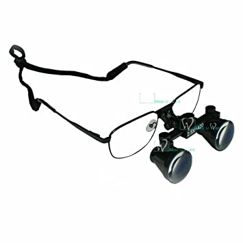 MUW Lunettes Loupe Chirurgie Dentaire Grossissement x 2,5 420 mm ... 263015f533bb