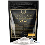Lexelium Hip and Joint Support for Dogs and Cats, 100% Natural Pet Supplement, Contains essential MSM + Glucosamine + Chondroitin + Calcium | Cat and Dog Arthritis and Joint Supplement | 200 Grams