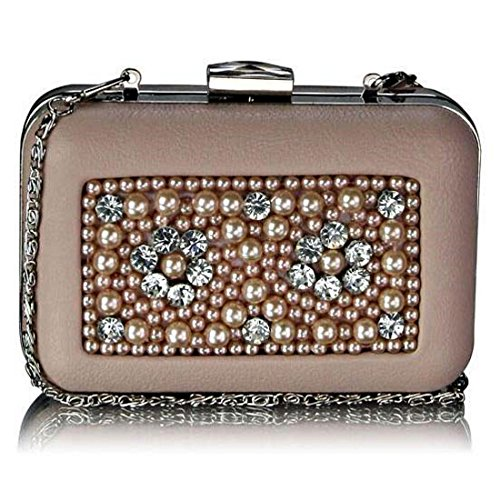 Bag Clutch SAVE Crystal Box Luxury Decoration DELIVERY SALE FREE 70 £21 99 FOR Nude Beaded UK ON Stunning With Cream XYwBxUfU
