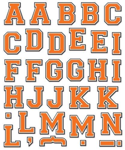 K&Company Orange Basic Alphabet Die-cut Stickers