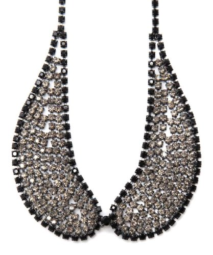 Swarovski Crystal Peter Pan Necklace in Gorgeous Black Diamond & Jet and in Black Finish
