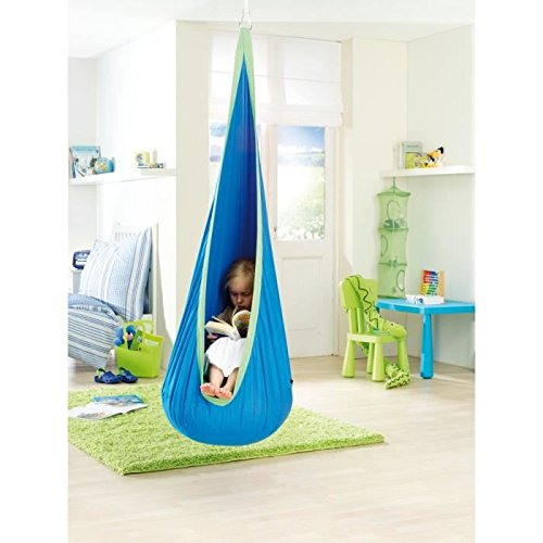 Superb Amazon.com: Seasofbeauty Kids Child Pod Swing Chair Hammock Indoor Outdoor  Hanging Seat Cushins Patio Swings Blue: Garden U0026 Outdoor
