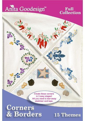 Anita Goodesign Embroidery Machine Designs CD CORNERS & BORDERS