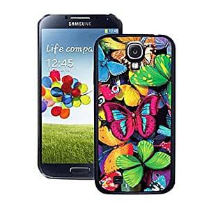 MOM Blazing Colour Butterfly Pattern 3D Effect Hard Case for Samsung Galaxy S4 i9500