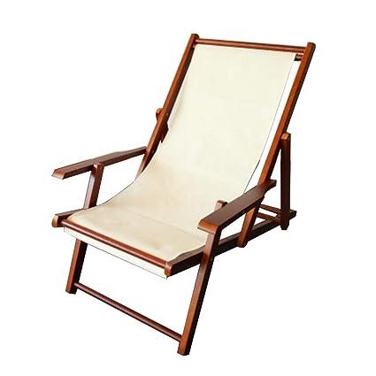 Amazon.com: YNN Woodside - Tumbona plegable de madera para ...