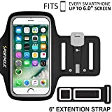 iPhone 7 Plus 6 Plus 6s Plus Armband, Portholic Workout Arm Band for Samsung Galaxy S6/S7 Edge s8/s8 Plus, LG G5, Note 2/3/4/5, Key&Cards Holders (6.0-Inch) for Running,Hiking,Biking,Walking,Jogging