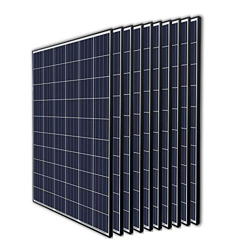 (Renogy 10Pcs 270 Watt 24 Volt Panel 2700W Grid Large Solar System Residential Commercial House Cabin Sheds Rooftop, 270W Arrays)