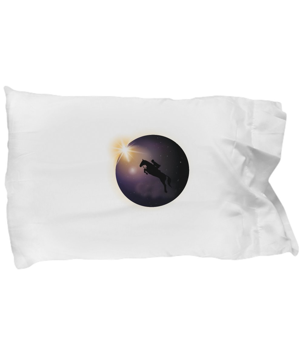 Pillow Covers Design Total Solar Eclipse August 2017 Funny horse Gift Pillow Cover Ideas
