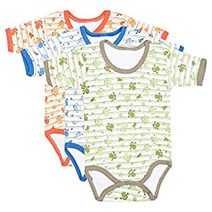 Cotton World Multi Color Romper For Unisex