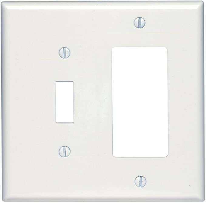 NIB Leviton 80409-W 2-Gang White Decora//GFCI Wall Plate Lot of 3