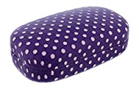 Hard Mod Purple And Pink Polka Dot With Interior Mirror Contact Lens Travel Case