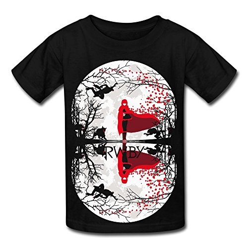 Kids Boys Girls T Shirt Total RWBY Ruby Rose Lunar Eclipse Ninja Black Size L