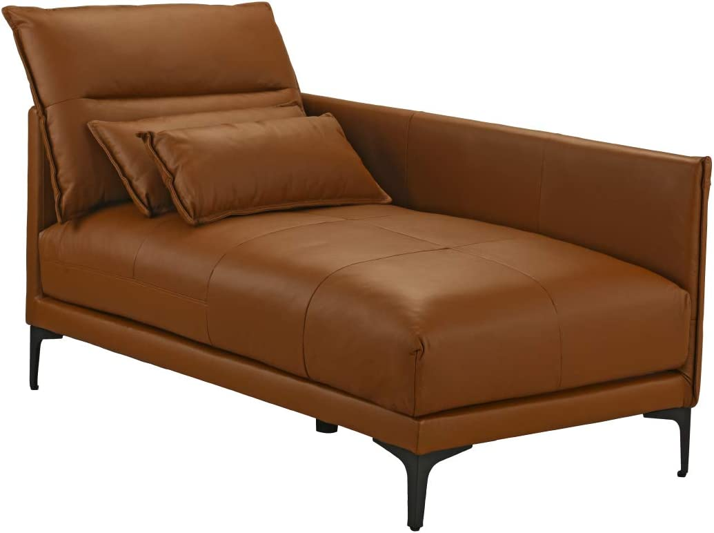 - Amazon.com: Mid Century Modern Living Room Leather Chaise Lounge