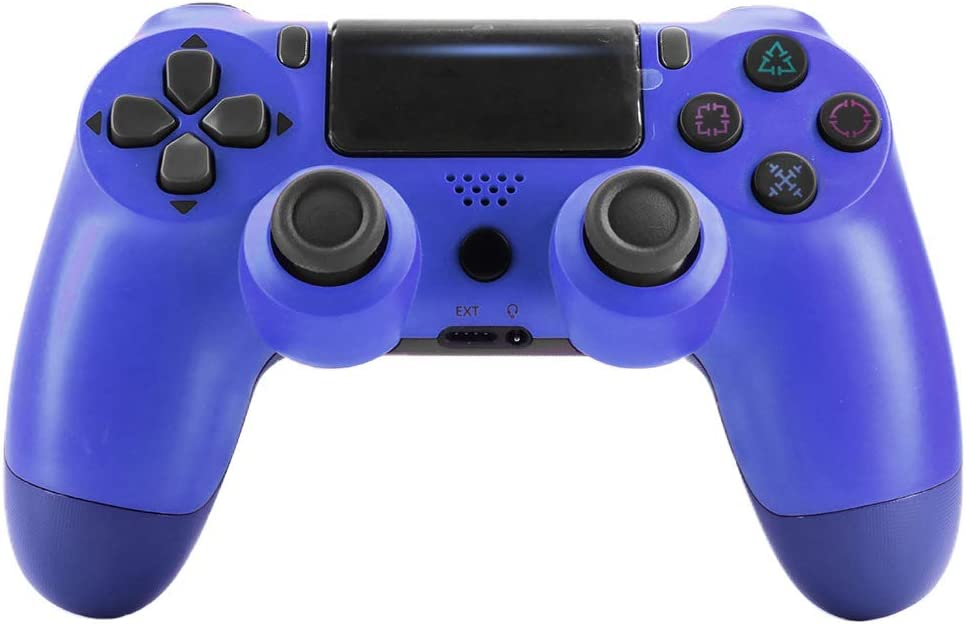 for PS4//Slim Controller Bluetooth 4.0 Mobile Gamepad with Light Bar Blue Gifts for Boys RONSHIN Wireless Controller