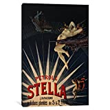 iCanvasART 1-Piece Patrole Stella French Lighting Oil Vintage Advertising Poster Canvas Print by Unknown Artist, 1.5 x 40 x 60-Inch