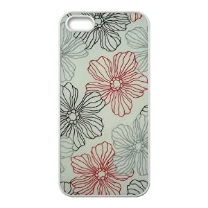 Cool Painting Pink Floral Original New Print DIY Phone Case for Iphone 5,5S,personalized case cover case570821