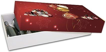 Pack de 10 Cajas de Cartón Navidad. Cesta de Navidad o Paquete. Tamaño 68 x 39