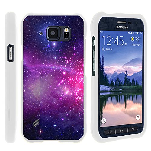 MINITURTLE Case Compatible w/ Miniturtle [Samsung Galaxy S6 Active case, S6 Active Cover] [Snap Shell] 2 Piece Hard White Case Heavenly Stars (Stars Heavenly)