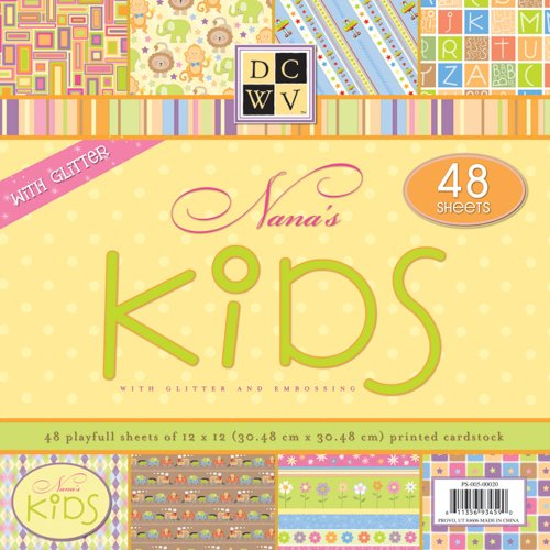 Die Cuts with a View PS005020 48-Sheet Stack of 12-by-12 inches Cardstock, Nana's Kids
