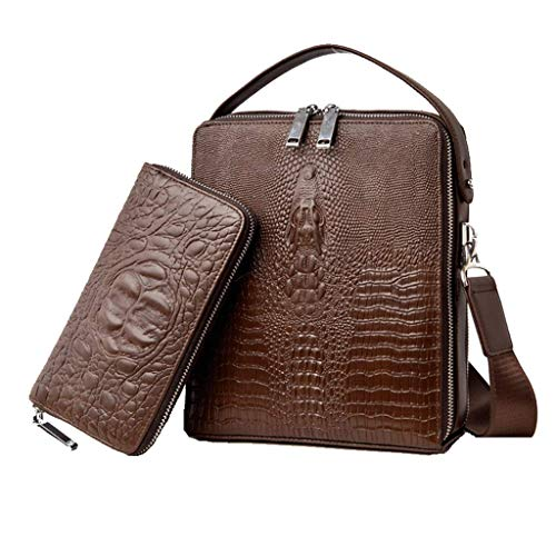 Blue Bolsos PU Shoulder para Marrón hombre Brown Zipper Black Bag aapwBUqxY