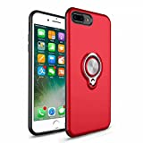 iPhone 7 Plus Rugged Military Grade Protective Case with Kickstand Shockproof Impact Protection Case Support Magnetic Car Mount (2, iPhone 7 Plus)