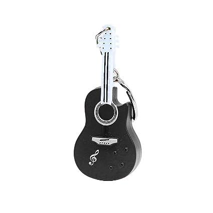 mAjglgE Divertida Guitarra con luz LED Sonido Llavero ...