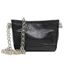 Saint Laurent YSL Women's Small Leather Chain Shoulder Handbag 332493 Black
