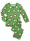 Sara's Prints Little Girls Cozy Ruffled Relaxed Fit Pajama Set, Hooray Santa-HYS, 6