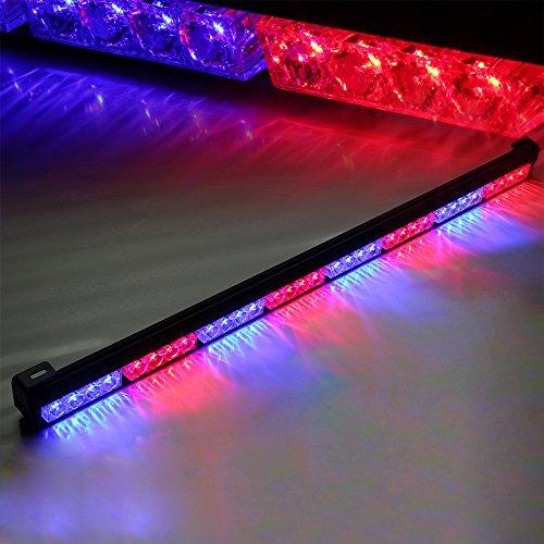 Xprite 35.5 7 Modes Traffic Advisor / Advising Emergency Warning Vehicle Strobe Top Roof Light Bar Kit (Alternative Red/Blue)