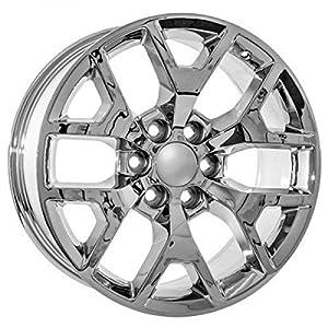 22 inch cadillac escalade oem factory style chrome wheels rims automotive. Black Bedroom Furniture Sets. Home Design Ideas