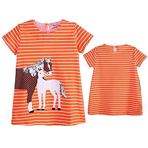 Robes De Princesse 18m Orange Orange, Bébé Animaux Filles Zhuotop