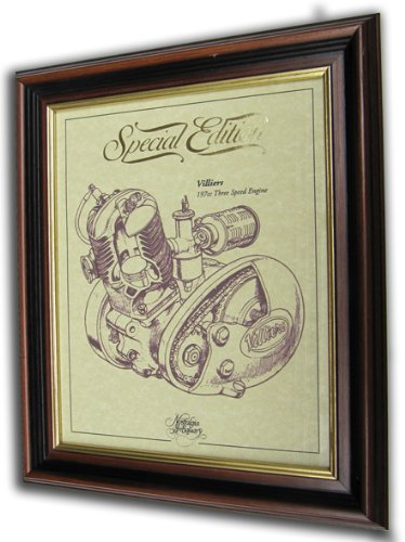 Villiers 197cc Three Speed Gold Leaf Limited Edition Engine Drawing