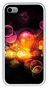 iPhone 4 4s Cases & Covers - Super Colorful Background TPU Custom Soft Case Cover Protector for iPhone 4 4s - White