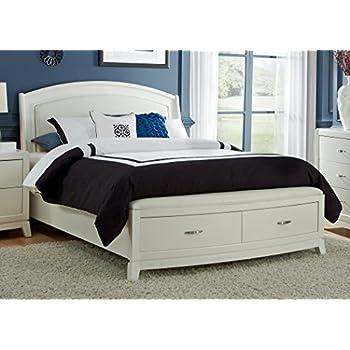 liberty furniture 205brqsb avalon ii storage bed queen white truffle