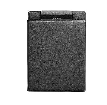 Denshine Profesional Cuero sintético Porta documentos punchless Carpeta de papel A4