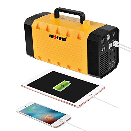 LNSLNM 500W Portable Generator Power Inverter, 288Wh/90,000mAh Camping CPAP Battery Backup Home Power Source Charged by Solar Panel/Wall Outlet/Car with Dual 110V AC Outlet, 4 DC 12V Ports, USB Ports