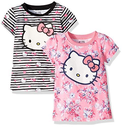 Embellished Dresses Clearance (Hello Kitty Baby Girls 2 Pack Embellished Dresses, White/Black,)