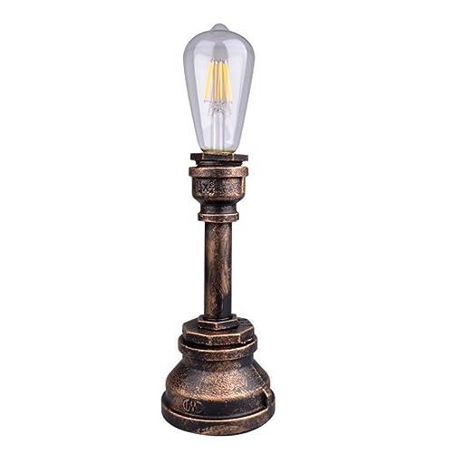 A-Lnice E27 Vintage Industrial Metal Edison Lámparas de escritorio ...