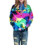 Photno Womens Hooded Sweatshirts, Pullover Hoodies Winter Graphic Tops Shirt Blouse Coat Outwear