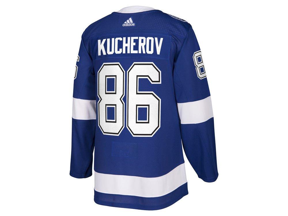 pretty nice b99ce ffc7d adidas Nikita Kucherov Tampa Bay Lightning Authentic Home NHL Hockey Jersey