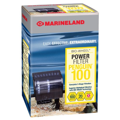 Marineland Penguin Power Filter, Up to 20-Gallon, 100 GPH (Best Filtration System Aquarium)