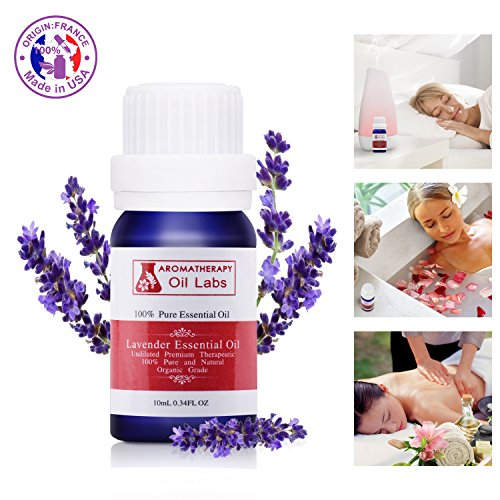 Lavender Essential Oil Aromatherapy Oil Fragrance 100% Pure Premium Quality Aroma Scented Organic Natural 10ml 0.34OZ for Car Aromatherapy Machine and Homehold
