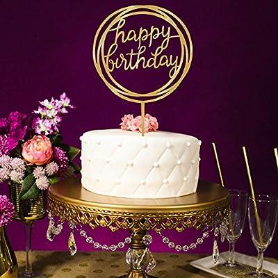 gaeruite Decoración para tarta de cumpleaños, diseño de ...
