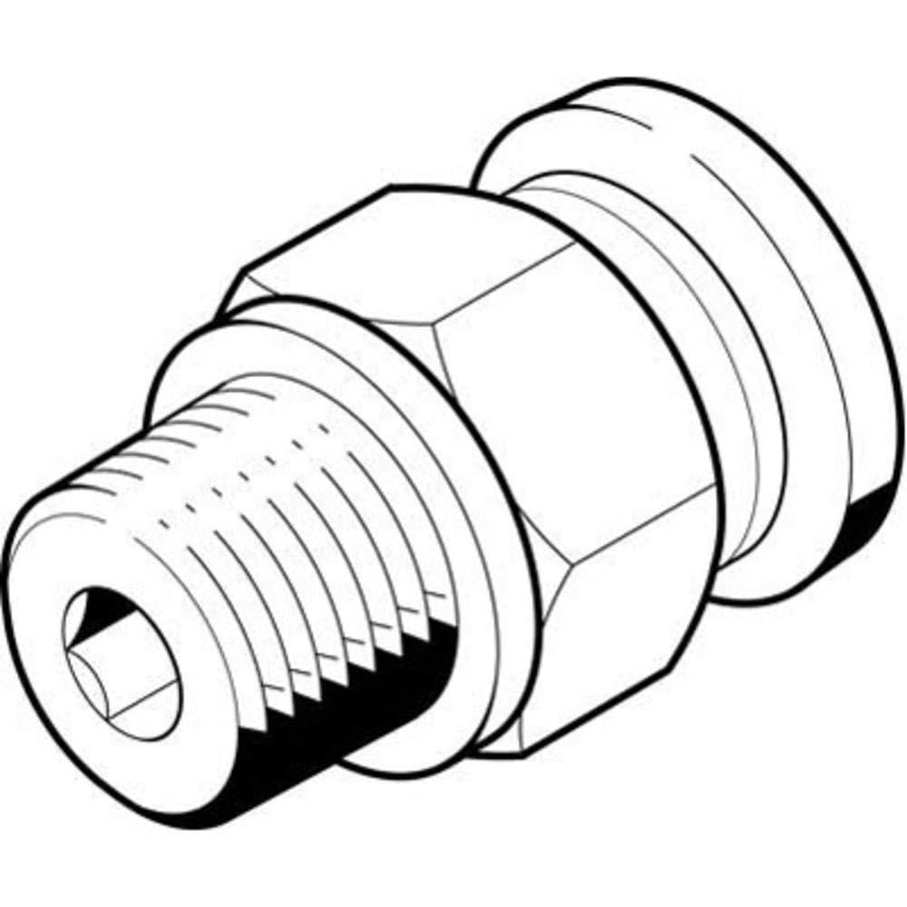 Fitting; push-in; QB-1/4-3/8-U-M, Pack of 20