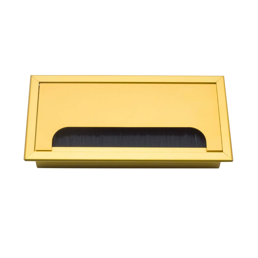 Autoly Desk Grommet Gold Desk Cord Cable Hole Cover Grommet for Computer Table, 160mm Length